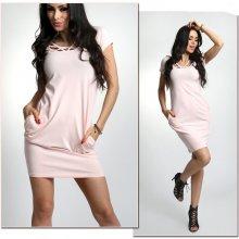 a6541fb4f138 Fashionweek klasické rúrkové šaty s krátkym rukávom A525 ružový