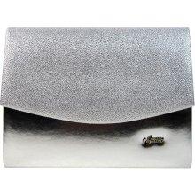 Grosso luxusná brokátová listová kabelka SP132 strieborná 83e680af466