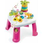 Smoby 211067 Cotoons didaktický stolík s funkciami ružová