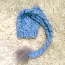 e4caa4b0c detská čiapka s brmbolcom pre bábätko modrá