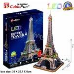 CUBIC FUN 3D puzzle Eiffelova věž Paříž svítící LED