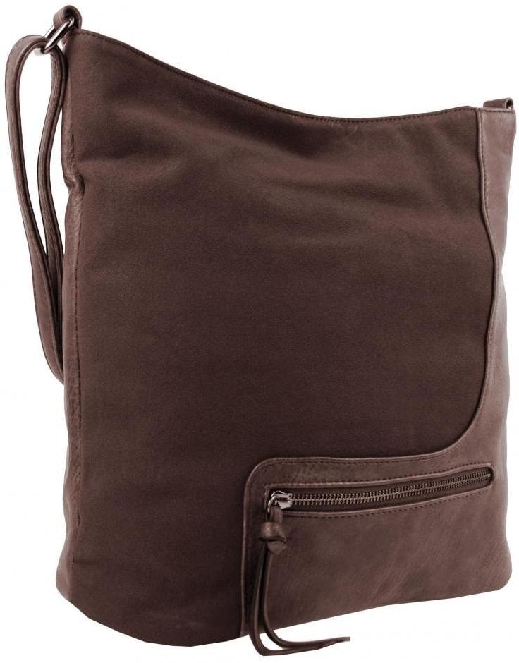 b5b10c097b Kabelka elegantná veľká dámska crossbody kabelka HB001 kávovo hnedá ...