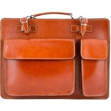 talianska kožená business taška 683 koňak 3038e8870f6
