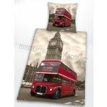 Herding obliečky bavlna London Bus 140x200 70x90