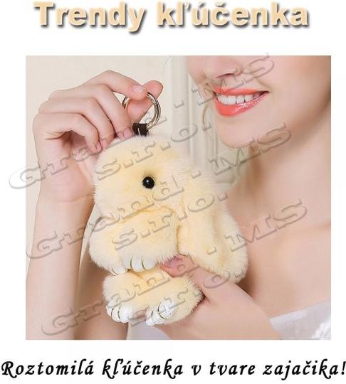 Prívesok na kľúče Prívesok na kľúče Trendy Zajac Pom Pom smotanový ... f401268bc10