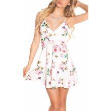 96a3ef4ea Dámske letné šaty KouCla kvetinkové s čipkou biela