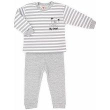 Makoma Chlapčenské pyžamo Macko bielo-hnedé