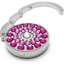 GM Collection Háček na kabelku Pink 787003