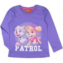 E plus M Dievčenské tričko Paw Patrol - fialové