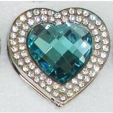 Háčik na kabelku Exclusive - tyrkysové srdce
