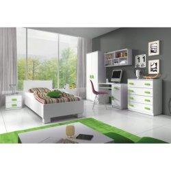 6488b08da3396 TEMPO KONDELA SVEND detská izba biela zelená od 593,00 € - Heureka.sk