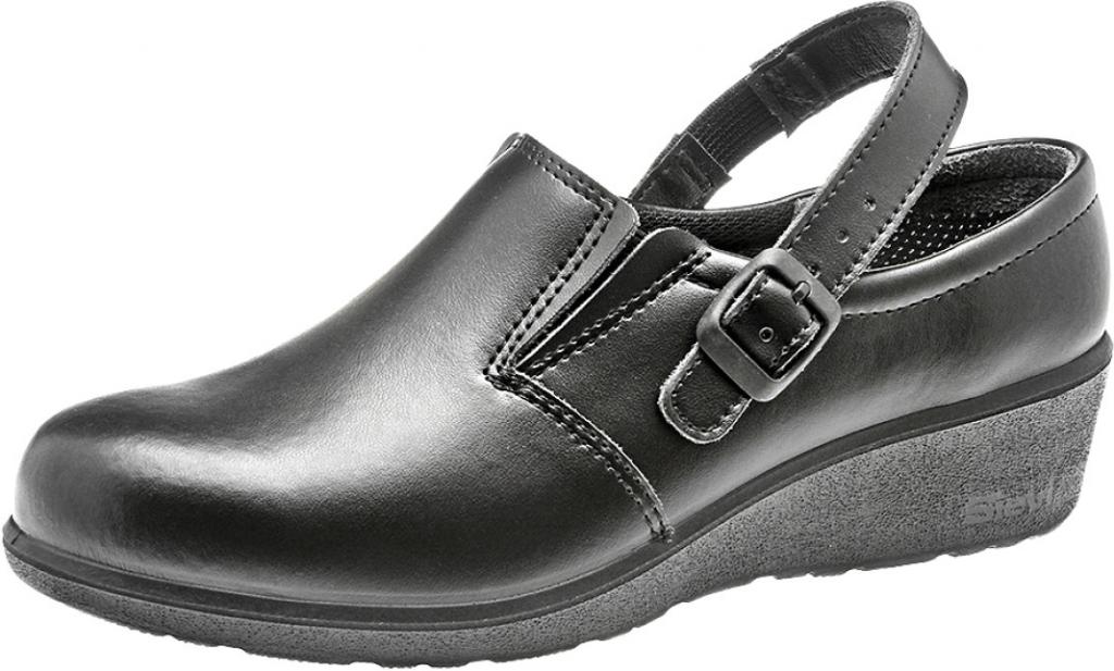 1b6d9efd23f8d Pracovná obuv SIEVI Dámske kožene pracovné ESD sandále Susan Black ...