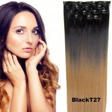 Clip in sada OMBRE - odtieň Black T 27