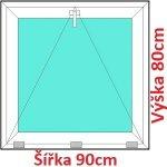 Soft Plastové okno 90x80 cm, sklopné
