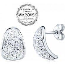 Silvego strieborné náušnice so Swarovski Crystals SILVEGOB36093 913f3260a05