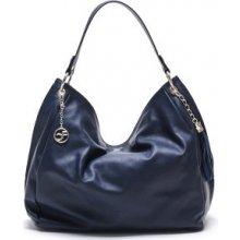 Carla Ferreri Elegantná kožená kabelka 2112 Bluscuro