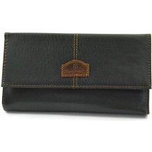 Čašnícka peňaženka štepovaná čierna