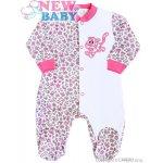 NEW BABY Dojčenský overal New Baby Leopardík ružový
