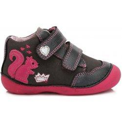 6672e738a9012 D.D.step Dievčenské členkové topánky s veveričkou čierne alternatívy ...