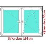 Soft Dvojkrídlové plastové okno 195x95 cm, O+OS