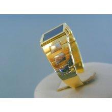 2d27a2800 MARM Design Zlatý pánsky prsteň žlté biele zlato kameň onyx DP69656V