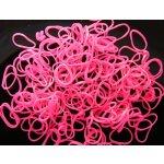 Loom Bands gumičky s háčikom 270 ks - neónové ružové