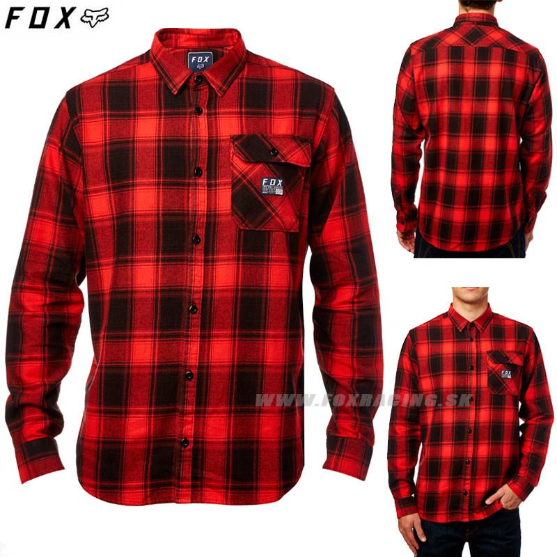 f5cd13dbd778 Pánska košeľa Fox pánská košeľa Voyd flannel červená - Zoznamtovaru.sk