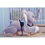 Smyk Hojdacia plyšová hračka sivý slon