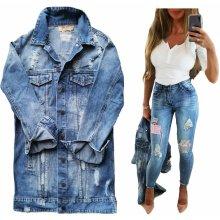 06cde6aed72b Fashionweek Dámska dlhá džínsová bunda LONG DENIM W027