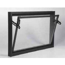 ACO pivničné celoplastové okno s IZO sklom 80x60cm hnedá