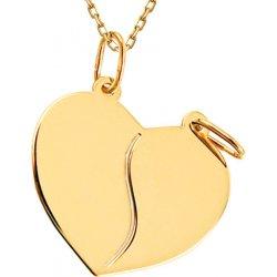 8d62daeb8 iZlato Design Zlatý medailón na gravírovanie Srdce pre dvoch IZ8153 ...