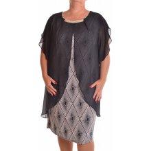 b81ced9e4c54 Dámske spoločenské elastické šaty so silonom čierne