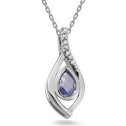 4e9fbed37 iZlato Design Zlatý prívesok s diamantmi a tanzanitom KU472TNZ ...