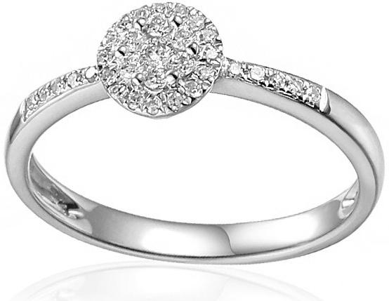 04ae0c6c8 iZlato Forever Zásnubný prsteň z bieleho zlata s diamantmi 0.150 ct Samella  IZBR486A