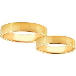 ff20f1721 Svadobné obrúčky žlté zlato šírka 4 mm STOB10001-4 alternatívy ...