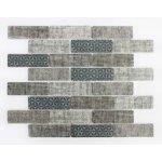 Premium Mosaic Mozaika sklo textile blue 31x98 MOSV98TBL