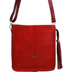 9e30ee5347 Grosso pevná väčšia crossbody kabelka s ozdobou M283 Červená ...