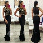 Šaty so zlatými pásmi čierna