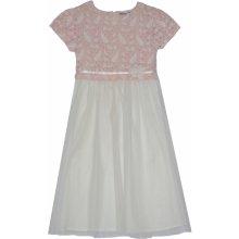 Topo Dievčenské spoločenské šaty bielo ružové