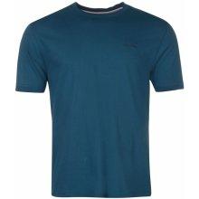 Slazenger Tipped T Shirt Mens Moroccan Blue