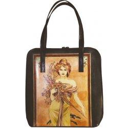 2f79e26f828e ručne maľovaná kabelka 8192 inšpirovaná motívom Alfons Mucha ...