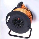 PremiumCord predlžovací kábel na bubne 25m 4 zásuvky