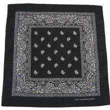 Bandana šátek černo bílý