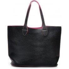 Unikátní černá kožená kabelka