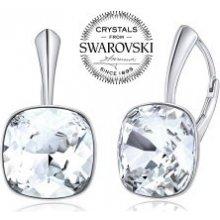 Silvego strieborné náušnice so Swarovski Crystals SQUARE VSW047e 43d07f9919e