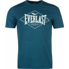 Everlast Logo T Shirt Mens Teal Diamond