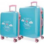 00955de28d JOUMMABAGS ABS cestovné kufre Roll Road Happy blue SADA ABS plast