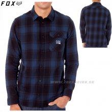 53236fa8de33 Fox pánská košeľa Voyd Flannel Black Red (017)