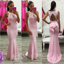 Spoločenské šaty s odhaleným chrbtom ružová