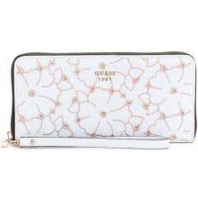 GUESS peňaženka Jayne Embroidered Zip-Around Wallet biela 7b5934162d3